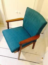 Mid Century Parker Knoll Lounge Chair / Vintage Furniture