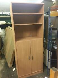 Dark beech effect storage unit
