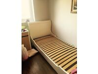White French Single Bed