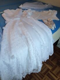 1ST COMMUNION DRESS WITH ACESSORIES