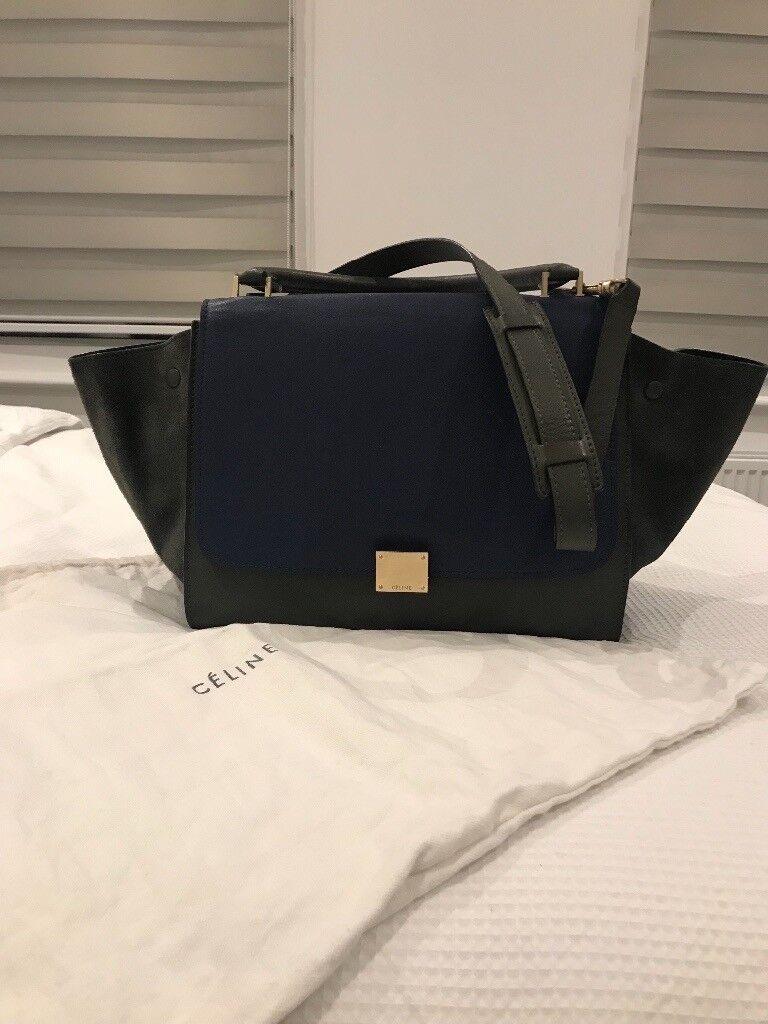 4eaa1b3b87ac Celine Trapeze bag (blue green)