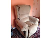 Electric Riser Recliner Winged Armchair