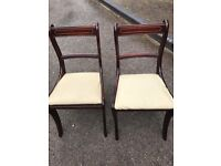 Two matching Rosewood Dining Room Chairs