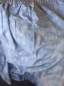 Ikea blue curtains - 4 panels on hooks
