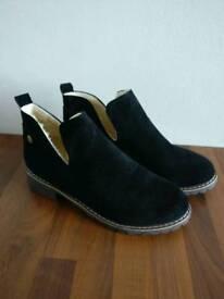 Women's Black Suede Boots - Size 40