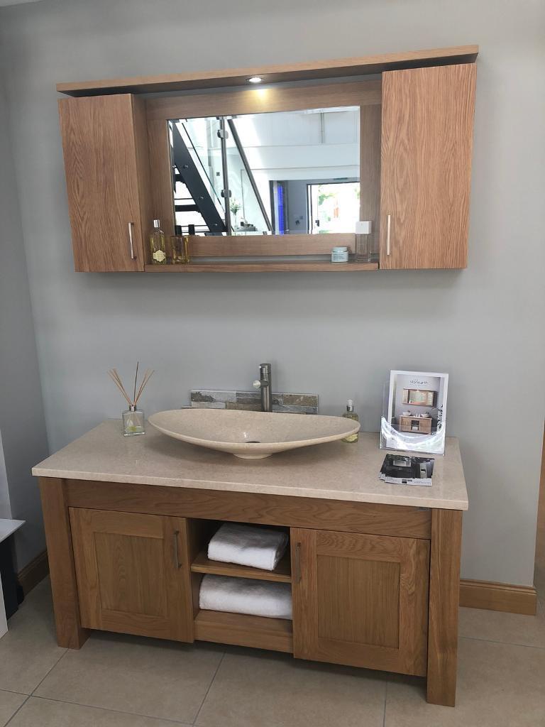 Exclusive Stone Earth Bathroom Furniture Set Ex Display
