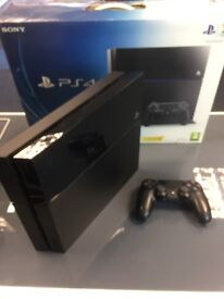 500GB PS4- 3 MONTHS WARRANTY- INCLUDES CONTROLLER/CABLES- SWAP/EXCHANGE WELCOM