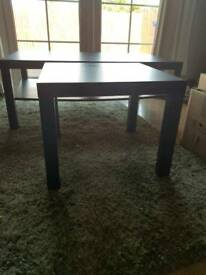 Ikea black side table