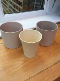 3 Small Indoor Pots
