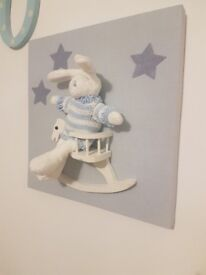 Nursery lightshade and picture