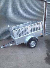 6x4 Galvanised Trailer with High Sides