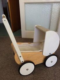 Toy wooden pram