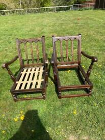 Ercol colonial easy chair frames 1950's - 1970's