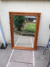 Large wooden mirror 42 inches x 30 inches