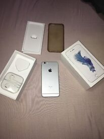 Apple IPhone 6s 16GB Silver For Sale With headphones & charger and etc