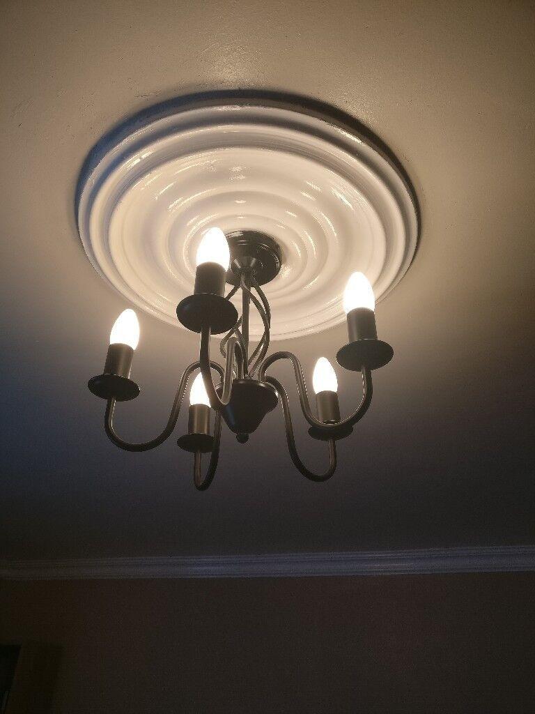 Black Chandelier Style Light Fitting