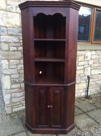 """*excellent* SOLID PINE CORNER CABINET CUPBOARD SHELVING UNIT *SHABBY CHIC* H 7. 1"""" X 22.5 """""""