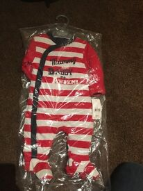 Padded babygro Up to 1month BNWT