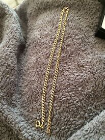 9ct gold men's chain 16 1/2 inches
