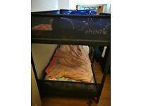 Ikea bunk bed with two matresses
