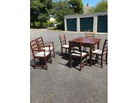 Extending table & six chairs