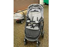 Graco Click Connect system plus Room 2 Stand double stroller