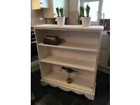 Bookcase Vintage Painted in Antique White Chalk paint Shelves Storage