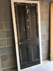 Reclaimed Victorian door (83cm x 201.5cm x 3.6cm)