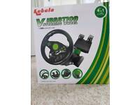 Steering wheel and pedals for xbox 360 and pS3
