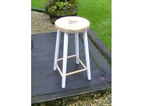 Wooden bar stool with heart shape seat