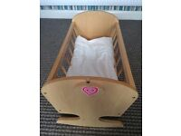 Wooden cradle for dolls baby born, baby annabell