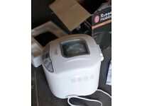 White Russell Hobbs Fast Bake Breadmaker as new in box never used.