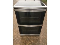 AEG 49002V-MN 60cm Double Electric Cooker in Stainless Steel #4417