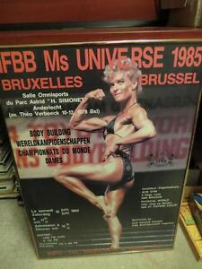 Metal Framed IFBB Miss Universe 1985 from Brussels