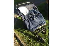 Mountain Buggy Duet Double Buggy, duvets and rain cover