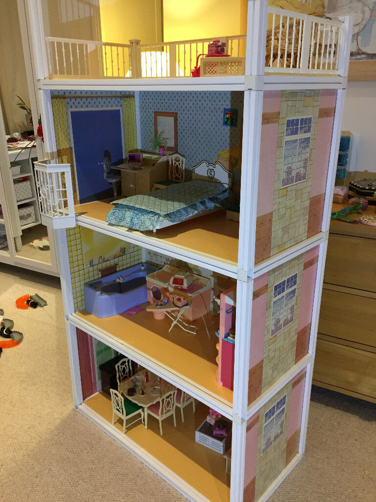 Vintage sindy house pedigree vgc lots of furniture 4 for Lift furniture to second floor