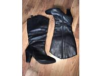 Women's wide fit size 9 leather boots