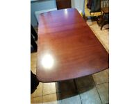 Dining room table 180cm extends to 228cm plus 5 carver chairs