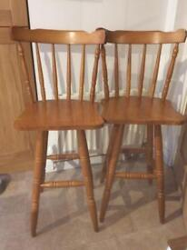 Pair of wooden stools ideal for up cycling