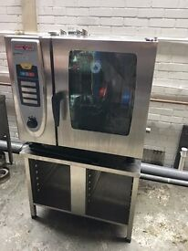 Rational SCC 61G Gas Combi Oven, 6 Grids Gas SCC Whiteffecincy comes with Stand