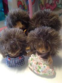Sylvanian family hedgehog family