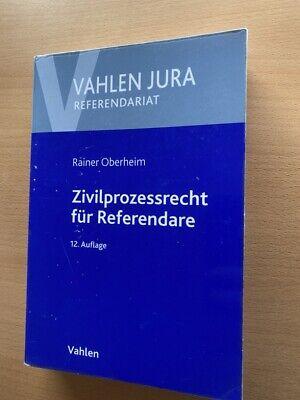 Oberheim ZIVILPROZESSRECHT für REFERENDARE ZPO Referendariat Jura 12. Auflage
