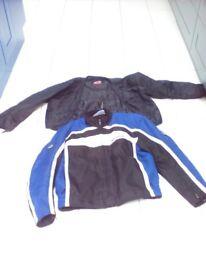 Hein Gerick Motorbike Jacket Blue and White. (M)