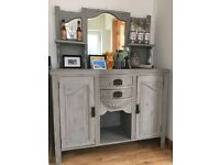 Beautiful Welsh/French Dresser. Painted in Annie Sloan Chalk paint.