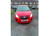 Chevrolet spark 2012 1.0+ 5Dr RED 36500 milages