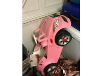 Electronic Pink Audi Toy Car 12V Ride On