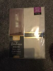 Brand new curtains 46 by 54