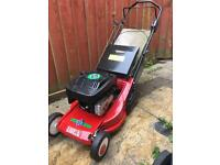 Petrol lawnmower with rear roller with grass collector push mower