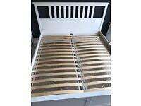 SOLD - IKEA Hemnes Superking white wooden bed frame