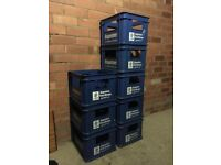 Home brewing beer Crates | 8x Augustiner-Bräu beer crates from Germany | 500ml x20